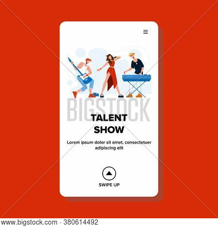 Talent Show Performing Music Band Song Vector