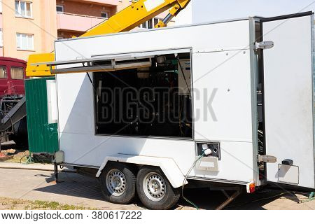 Large Backup Generator For Urgent Outdoor Work.