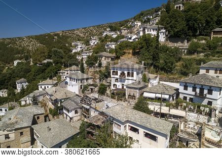 Aerial View At Makrinitsa Village Of Pelion, Greece