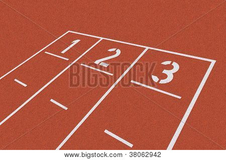 Starting Line On Red Clay