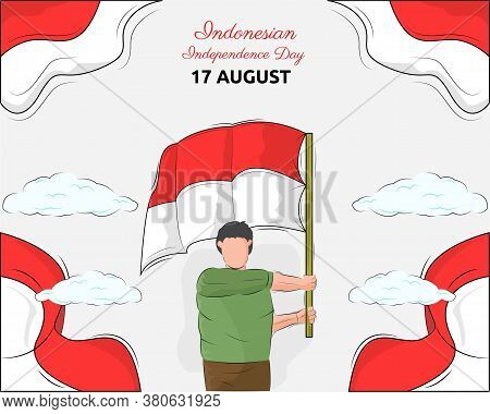Illustration Vector Design Of Indonesian Independence Day Background Template
