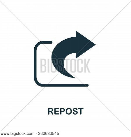 Repost Icon. Simple Element From Social Media Collection. Creative Repost Icon For Web Design, Templ