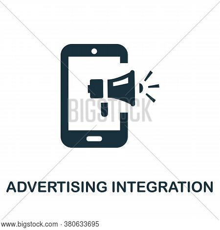 Advertising Integration Icon. Simple Element From Social Media Collection. Creative Advertising Inte
