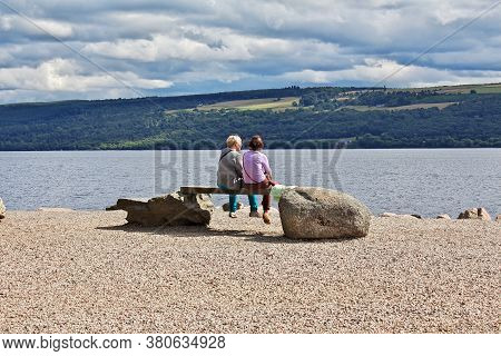 Loch Ness, Scotland / Uk - 5 Aug 2013: Lake Loch Ness In Scotland