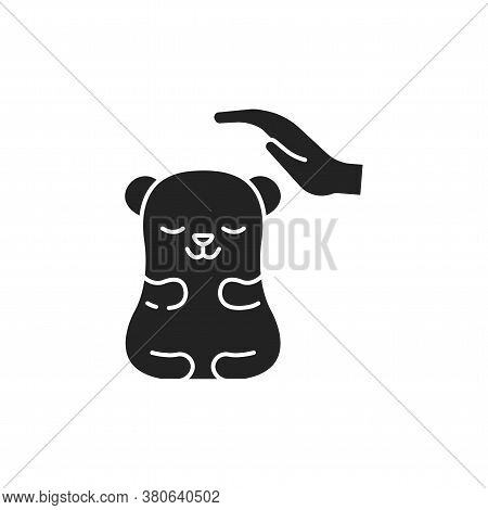 Rodent Care Black Glyph Icon. Improving The Life Of Rodents. Actions Aimed At Their Care. Pictogram