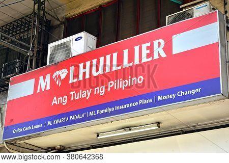 Quezon City, Ph - Mar 30 - M Lhuillier Pawn Shop Sign On March 30, 2018 In Quezon City, Philippines.