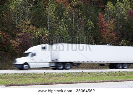 Blured Semi Truck