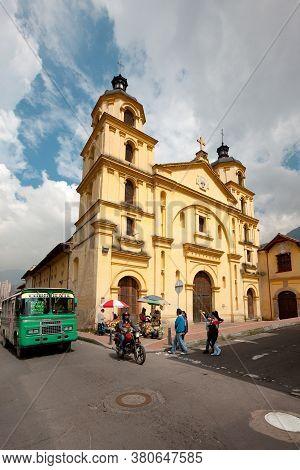 La Candelaria Neighborhood, Bogota, South America - November 26, 2011: Nuestra Senora De La Candelar