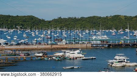 Sai Kung, Hong Kong,16 July 2020: Sea coast in yacht club