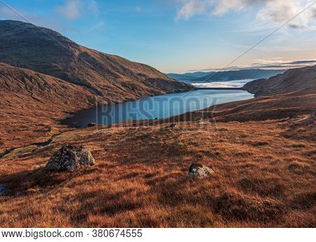 Cruachan Reservoir In Scotland Is Located Above Loch Awe, In A Corrie Beneath Ben Cruachan. It Is Th