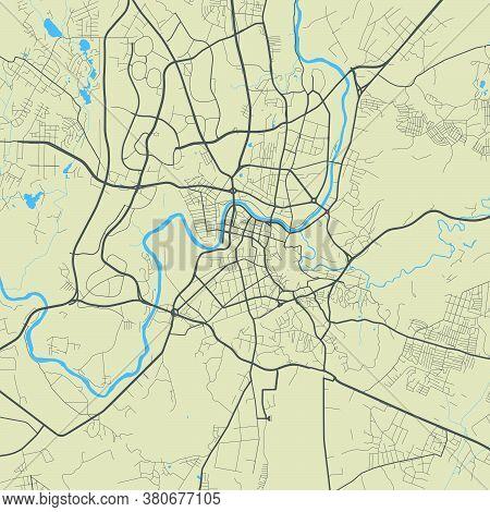 Vilnius City Map Poster. Map Of Vilnius Street Map Poster. Vilnius Map Vector Illustration.