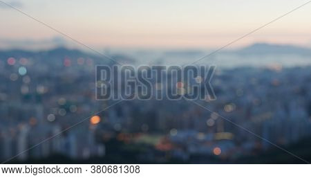 Bokeh of city view at night