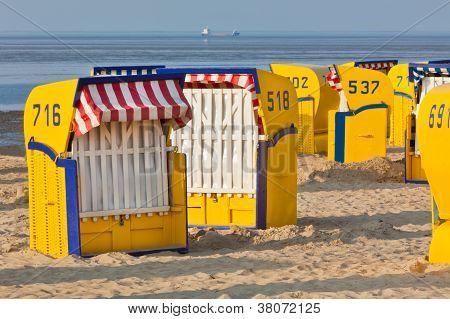 Beach�wicker�chairs Strandkorb�in Northern Germany