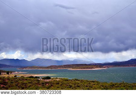 Mountain By Roosevelt Lake In Central Arizona