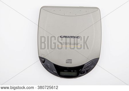Wetzlar, Germany 2020-07-16 Grundig Cd Portable Player.