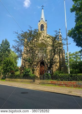 Gothenburg, Sweden - June 18 2019: The Facade View Of Saint Andrew's Church On June 18 2019 In Gothe