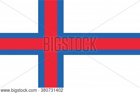 Faroe Island Flag Vector Graphic. Rectangle Faroese Flag Illustration. Faroe Island Country Flag Is