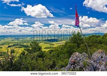 Kalnik Mountain View From Top