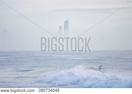Surfing In The Morning At Burleigh Heads