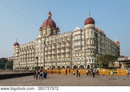 Mumbai, India - November 22, 2019: The Taj Mahal Palace Hotel Located Near Gateway Of India And Is T