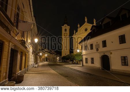 Kamnik, Slovenia - August 2, 2020: The Old Town Of Kamnik, A Municipality South Of The Steiner Alps