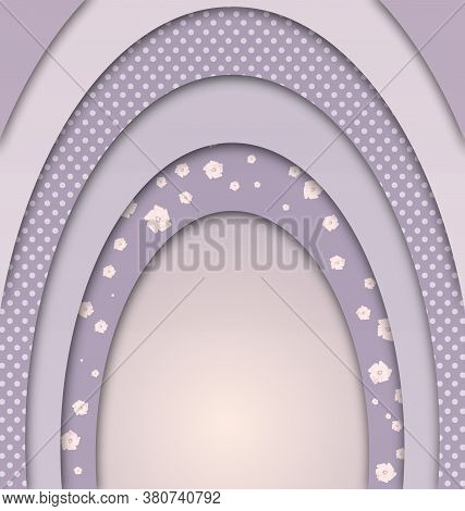 Abstract Violet Colored Image Of Arc Frames