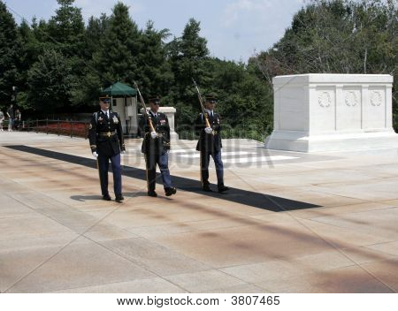 Changing Of The Guard At The Tomb Of The Unknown Soldier