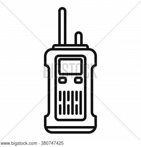 Survival Walkie Talkie Icon. Outline Survival Walkie Talkie Vector Icon For Web Design Isolated On W