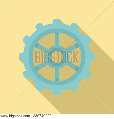 Watch Cog Wheel Icon. Flat Illustration Of Watch Cog Wheel Vector Icon For Web Design