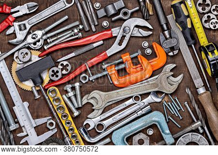 Construction Instruments And Tools. Set Of Tools. Home Tool Kit. Everyday Instruments. Work Stuff. M