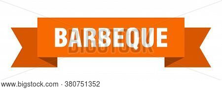 Barbeque Ribbon. Barbeque Isolated Sign. Orange Banner