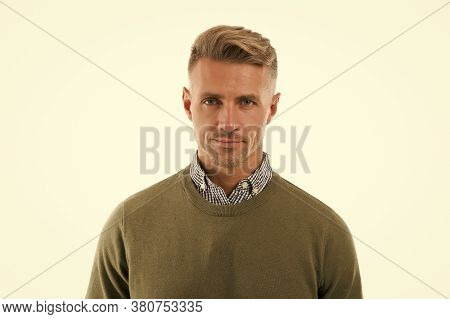 Facial Care And Ageing. Traits And Behaviors Make Men More Appealing. Attractive Mature Man On White