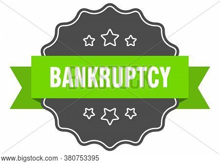 Bankruptcy Isolated Seal. Bankruptcy Green Isolated Label