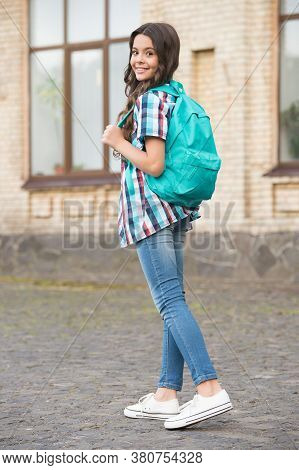 Going Hands-free. Happy Kid Carry Travel Bag Outdoors. Vacation Travel. Summer Holidays. Travelling