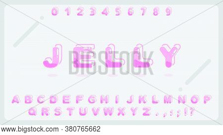 Sweet Jelly Alphabet For Kid.typography Creative Font