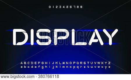 Futuristic And Digital Technology, Curve Alphabet Fonts