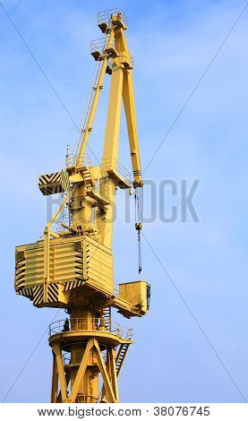 Yellow Port Crane Terminal Seaport