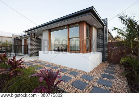 A Modern And Luxury House Exterior View