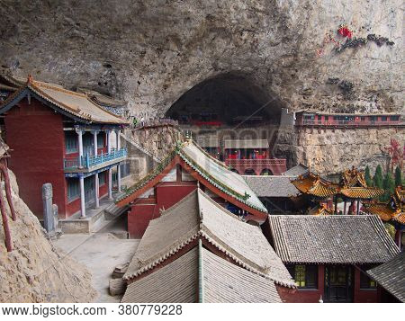Mianshan Mountain The World Heritage Site, Many Of Ancient Hanging Taoist Temples And Caves. Pingyao