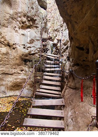 Qixian Canyon Or The Canyon For Wise People In Mianshan Mountain World Heritage, Pingyao Ancient Cit