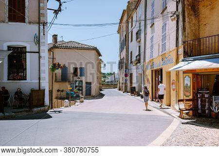 Valensole Provence France June 2020, Streets Of The Colorful Village Of Valensole During Summer