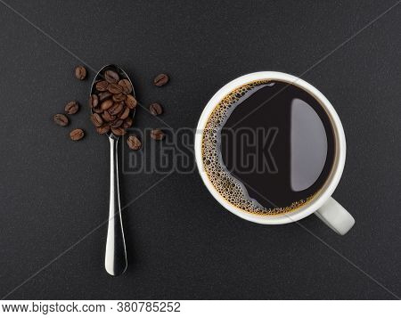 Close-up Of Black Coffee In White Cup