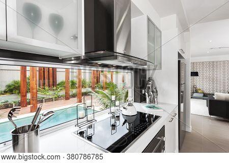 A Luxury Kitchen Room Bright Interior Design