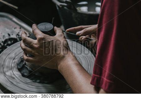 Artisan Potter Making Art Pot Handicraft