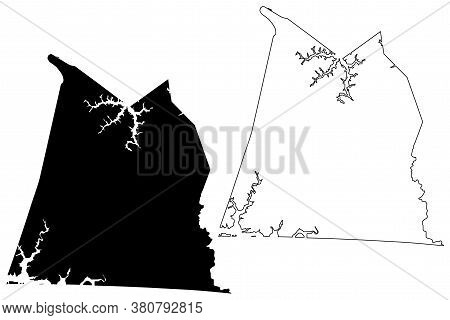 Clinton County, Kentucky (u.s. County, United States Of America, Usa, U.s., Us) Map Vector Illustrat