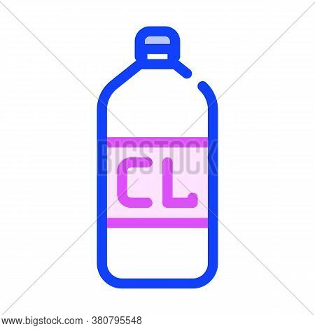 Chlorine Bottle Color Icon Vector Isolated Illustration
