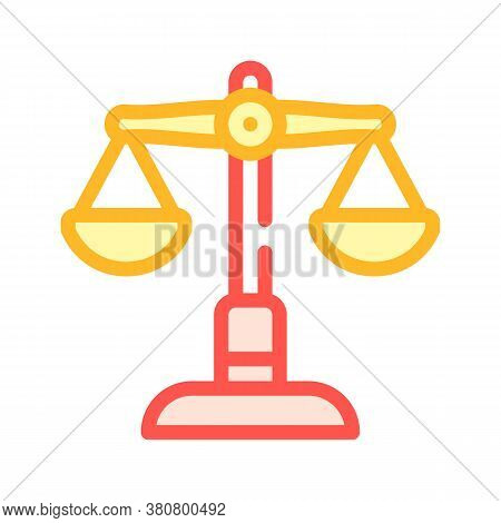 Judicial Scales Color Icon Vector Isolated Illustration