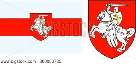 Unofficial Flag And Symbol Of The Republic Of Belarus Pagonya Symbol Of Protests Against The Results
