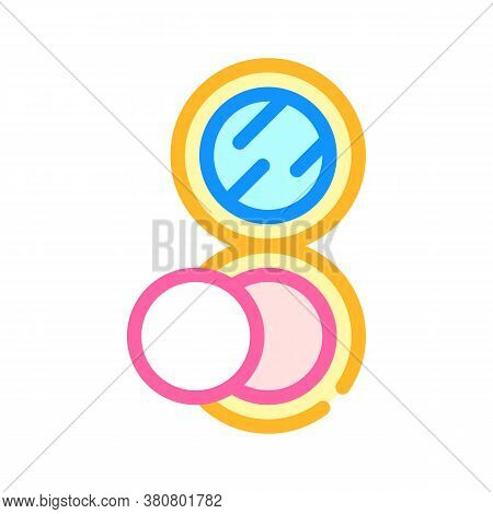 Puff Powder Color Icon Vector Isolated Illustration