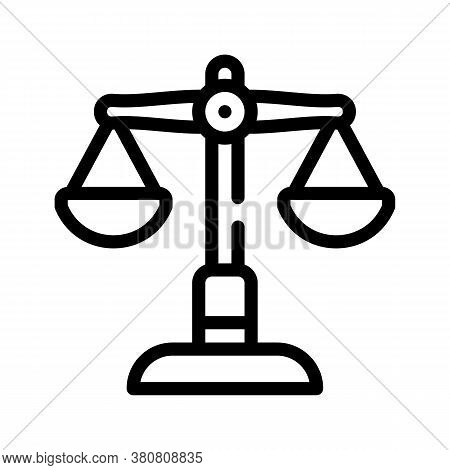Judicial Scales Line Icon Vector Isolated Illustration